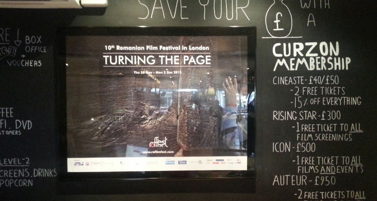 The RFF huge posters are up. In Central London. Curzon Soho.