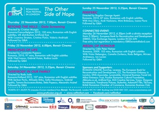 Romanian Film Festival 2012 Flyer back